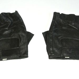 Motorcycle Genuine Leather Gloves Fingerless L